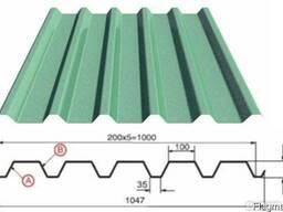 Профилированный лист с полимерным покрытием 0,5, С20, 1,15*6 - фото 4