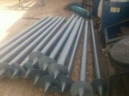 Свай диаметром 57 толщина стенки 3, 5 диаметр лопасти 250-300