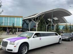 Прокат аренда лимузина машин на свадьбу роддом в Астане