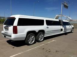 """Прокат. Компания """"7zvezd"""". Белый лимузин Cadillac Escalade"""