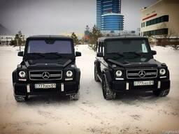 """Прокат. Компания """"7zvezd"""". Черный Mercedes-Benz Gelandewagen"""