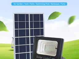 Прожектор на солнечной батарее LED для наружного и внутренне
