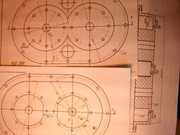 Рабочие чертежи изобретения Насос-компрессор