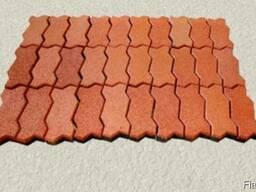 Резиновая плитка, брусчатка