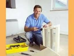 Сборка мебели, сборщик мебели, ремонт, упаковка, разбока Алм