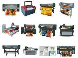 Широкоформатные, интерьерные, уф принтера, фрезеры, лазеры