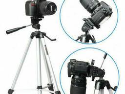 Штатив-трипод с телескопической осью для смартфона, GoPro. ..