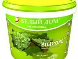Силиконовая акриловая краска фасадная, водоэмульсия Silicone