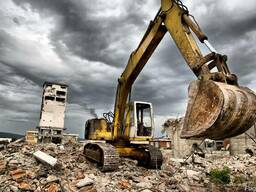Снос демонтаж зданий в Астане