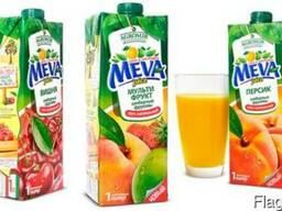"""Соки и нектары """"Meva"""" в ассортименте"""