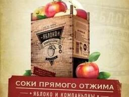 Соки ТМ «Яблоко и компаньоны», 3 литра, упаковка «baginbox»