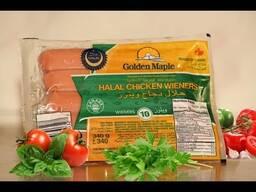 Сосиски канадские из курицы. Golden Maple (HALAL)