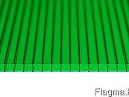 Сотовый поликарбонат 10 мм зелёный