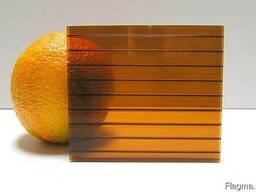 Сотовый поликарбонат 4 мм шоколад (коричневый) - фото 1