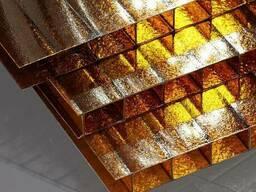 Сотовый поликарбонат 4 мм шоколад (коричневый) - фото 2