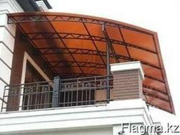 Сотовый поликарбонат 8 мм коричневый( терракот цвет)