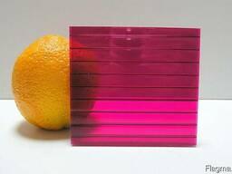 Сотовый поликарбонат, цвет бордовый (гранат), 4мм