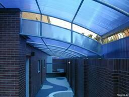 Сотовый поликарбонат синий, 4 мм