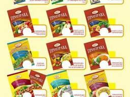 Специи, приправы, кисель, пищевые и функциональные добавки.