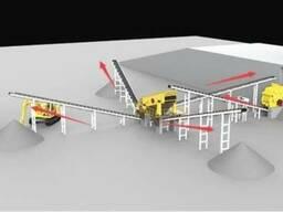 Стационарная дробилка. 100 тонн/час. 124 378 USD (