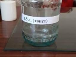 Стеклянная банка 1.5 л Твист и СКО из полу белого стекла