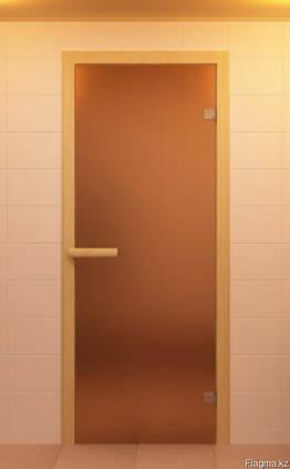 Стеклянные двери для бани и сауны Матовые