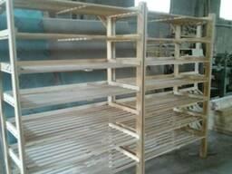 Стеллаж (витрина), под хлебобулочные изделия, деревянный. - фото 1