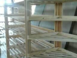 Стеллаж (витрина), под хлебобулочные изделия, деревянный. - фото 4