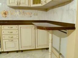 Столешницы и фартук из искусственного камня для кухни - фото 2