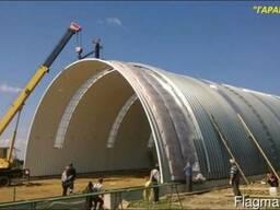 Строительство мобильных бескаркасных ангаров в г. Алматы