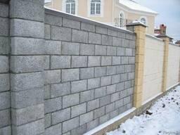 Строительство заборов из пескоблока и бетонита
