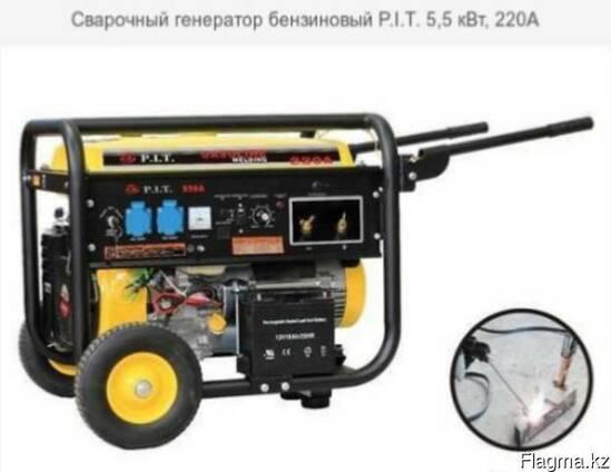 Сварочный генератор бензиновый P. I. T. 5,5 кВт, 220А