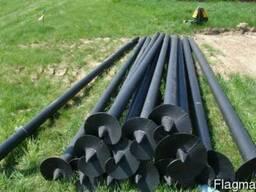 Изготовление винтовых свай 57 до 133/3500, 4000мм стальных однолопостных