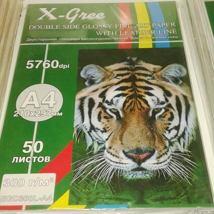 Текстурная бумага А4 для струйной печати: кожа, лен