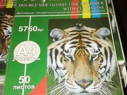 Текстурная бумага А4 для струйной печати: кожа, лен - фото 2
