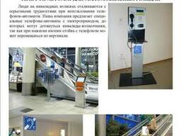 Телефон автомат для инвалидов-колясочников.