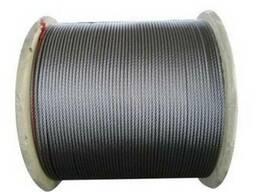 Канат стальной двойной свивки типа ЛК-РО ГОСТ 7669-80 д. 16. 0