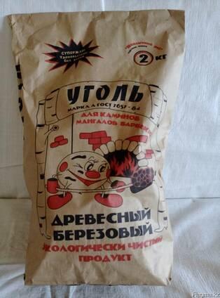 """Уголь древесный берёзовый """"Шашлычный рай"""" - 2 кг."""