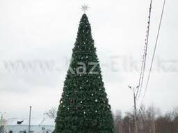 Уличная искусственная каркасная елка(хвоя-пленка), 10м