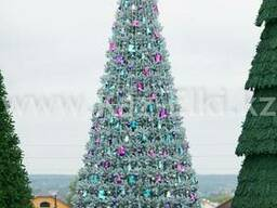 Уличная искусственная каркасная елка (хвоя-пленка), 11м
