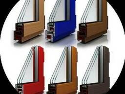 Установка пластиковых окон из цветного профиля