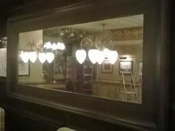 Установка зеркал в рестораны. Монтаж всех видов зеркал.