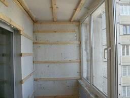 Утепление и внутренняя отделка балконов или лоджий