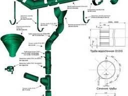 Водосточная система круглого сечения МП Престиж - фото 1