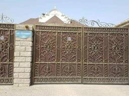 Ворота любого дизайна в Алматы!!!