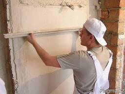 Выполним штукатурку и шпатлевку стен и потолков