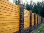 Забор из дерева на заказ