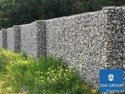 Забор из габионной сетки