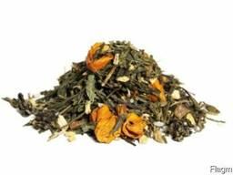 """Зеленый детокс чай """"С имбирём корицей и мёдом"""" 0, 5кг."""